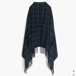 J Crew plaid cape scarf